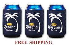 CORONA EXTRA PALM LOGO 3 BEER CAN COOLERS KOOZIE COOLIE HUGGIE MODELO NEW