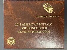 2013-W 1ozt Reverse Proof Gold American Buffalo Coin OGP & COA , Key Date Coin