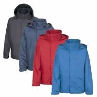 Trespass Nabro Boys Waterproof Jacket Lightweight Hooded Kids Raincoat