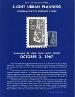 #1333 5c Urban Planning Stamp Poster- Unofficial Souvenir Page Flat HC