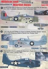 Print Scale Decals 1/48 GRUMMAN F4F WILDCAT AND MARTLET ACES