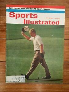 Jack Nicklaus June 1962 Sports Illustrated US Open PGA Golf Spine Wear Label SI