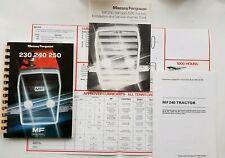 MASSEY FERGUSON 230 240 250 TRACTOR OPERATORS MANUAL PACK