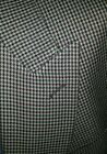 44R Houndstooth Check Double Breasted Peak Lapel Sport Coat Wool Jacket Blazer