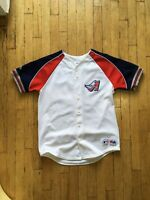 Vintage 90s Angels 42 Mo Vaughn Jersey Majestic Small jackie robinson disney