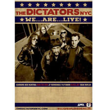 Poster THE DICTATORS NYC Spain Tour 2017 . punk rock handsome dick manitoba