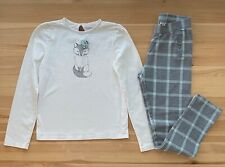 JANIE AND JACK Fox Top & Pants Set Outfit Size 12