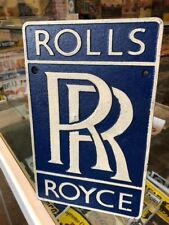 Rolls Royce Repro Cast Iron Plaque Sign