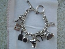Juicy Couture Sterling Silver Charm Bracelet