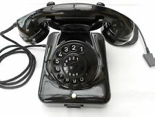 ALTES BAKELIT TELEFON   W48  +  T.  MERK +   7 / 1957   + Wählscheibe + restaur.
