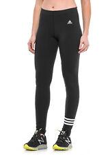 AA0739 Adidas Women 3 Stripe Cotton Leggings Black Small NWT