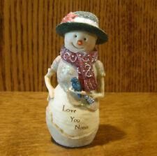 "Birch Hearts Snowmen Figurine  #81137 ""Love You Nana"" by BARB McDONALD 4.5"""