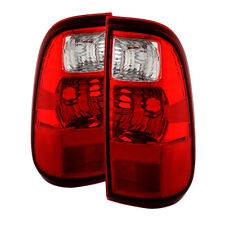 Ford 08-16 F250/F350/F450/F550 SuperDuty Red Clear Tail Lights Factory Style