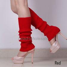 US Hot Women Fashion Leg Warmers Knitted Neon Dance 80s Costume 1980s Leg Warmer