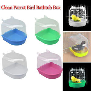 Kit Mounted Hanging Cage Bird Cage Accessories Parrot Bathtub Bath Shower Box