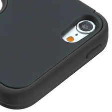 iPod Touch 5th / 6th Gen -Black High Impact Armor Hard & Soft Rubber Hybrid Case