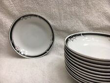 1 NITTO China 'Kabuki' T 75 Soup Bowl w/ Silver Trim (8 remaining): Brand NEW!