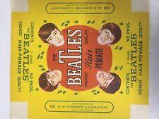 "60's BEATLES Pomade Box Wrapper 8""x9"" MINT"