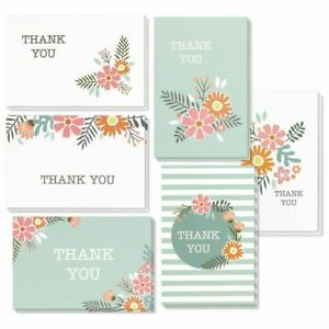 48 Pcs Thank You Cards Bulk Set with Envelopes for Baby Showers, Wedding Party