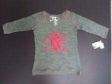 NEW NWT Minnesota Wild NHL Green Women's Lace Neck Sweatshirt - Size Small 4/6