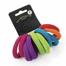 10 Bright Colours Soft Endless Hair Bobbles Elastics Headbands Hair Bands