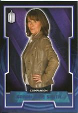 Doctor Who 2015 Blue Parallel [199] Base Card #44 Sarah Jane Smith