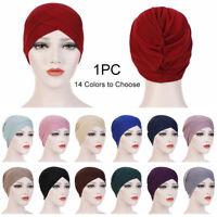 Women Muslim Hijab Stretchy Turban Hat Head Wrap Cancer Chemo Beanie Cap Bandana