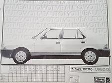 KIT ADESIVI FIAT RITMO TURBO DIESEL - ARGENTO - 4357