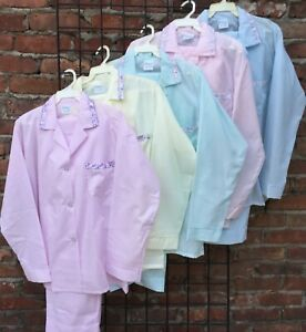 New Long Sleeve Long Pant Pajama Sets  S M L Made in USA (Free Shipping)