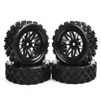4Pcs Rally Tires&Wheel Rim 12mm Hex BBNK For HSP HPI RC 1:10 Off Model Road Car