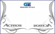 1 Paar ACTROS - LKW Seitenfenster Aufkleber - Sticker / Decal, H 32cm !<>!<>!