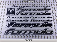 FORMULA Stickers Decals Bicycles Bikes Cycles Frames Forks Mountain MTB BMX 62R