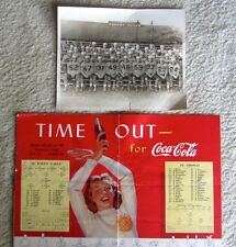Vtg 1945 HS Football Program & 8x10 Team Photo St Johns Jackson, MI COCA COLA Ad