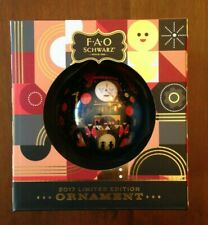 Fao Schwarz Ornament 2017 Limited Edition, Black - Clock / Holiday Face NIB