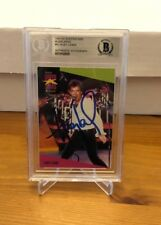 Huey Lewis Signed Auto 1991 Pro Set Superstars Music cards Beckett Authentic