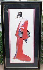 Hisashi Otsuka Japanese Art - Lady of the 36 Poets - Red - Limited Edition
