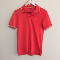 Adidas Climalite Tennis Golf Fitness Polo Shirt Short Sleeve Orange Mens Medium