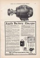 1906 Apple Automobile Battery Charger Ad / The Dayton Electrical Mfg Co
