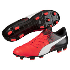 Men's Puma Evopower 4.3 Tricks FG Cleated Soccer Shoe Black/Red 12 #NGR2L-M383-B
