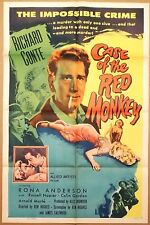 CASE of the RED MONKEY ~ 1955 one sheet movie poster~EXCELLENT!~Richard Conte