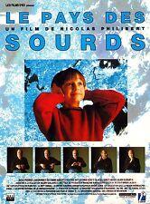 Affiche 40x60cm LE PAYS DES SOURDS (1992) Nicolas Philibert - Documentaire TBE