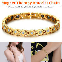 Damen Energie Magnet Armband Magnetarmband Armreif Armkette Gesundheit  +F S