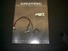 Grundig Sat800 battery clip, springs, and cable assembly