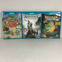Lot of 3 Wii Games | Animal Crossing NIB, Assassin's Creed III CIB, Rayman CIB