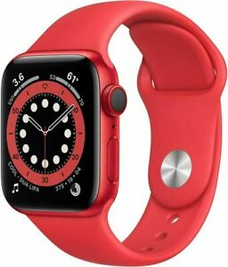 Apple Watch Series 6 40mm RED Aluminum Case RED Sport Band Cellular M02T3LL/A