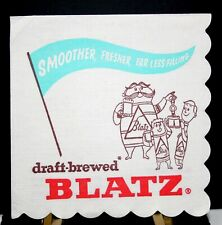 "BLATZ BREWING CO., MILWAUKEE,WI. ""BLATZ"" PAPER NAPKIN MINT CONDITION N.O.S."