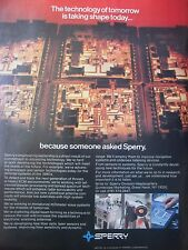 1980-1982 PUB SPERRY PROCESSORS & SENSORS TECHNOLOGY ECM RADAR GYROS ORIGINAL AD
