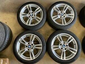 "18"" Genuine BMW 400m M Sport Staggered Alloy Wheels F30 f31 f36 F32 E90 400 m"