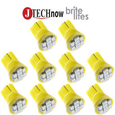 10x T10 8-SMD Yellow LED Interior, Instrument License Light W5W 194 168 2825 158
