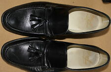 Mens Florsheim Royal Imperial Ritz Leather Solid Black Tassel Size 10 B EUC